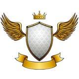 Emblème à ailes par style de vintage Image stock