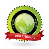 Emblème amical d'Eco avec l'étiquette Photo libre de droits