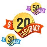 emblème arrière d'argent comptant Image stock