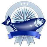Emblème avec des poissons Photos stock