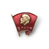 Emblème avec Lénine Image stock