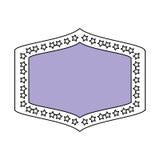 Emblème avec l'illustration de vecteur d'étoiles Photographie stock