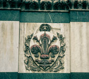 Emblème avec un lion Image stock