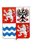 Emblème central de la Bohême images libres de droits
