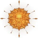 Emblème décoratif du soleil illustration de vecteur
