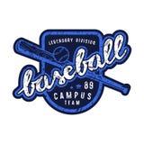 Emblème d'équipe de baseball de campus Photographie stock libre de droits