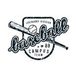 Emblème d'équipe de baseball de campus Photo stock