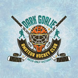 Emblème d'équipe de hockey Photo stock