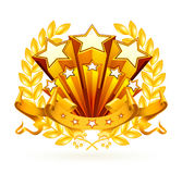 Emblème d'étoiles Images libres de droits