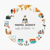 Emblème d'agence de voyages Photos stock