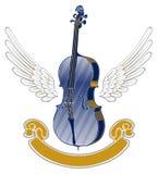Emblème d'aile de musique Images stock