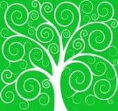 Emblème d'arbre de vecteur Photos libres de droits