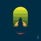 Emblème d'arbre forestier Image libre de droits