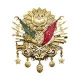 Emblème d'empire de tabouret emblème d'empire d'Ottoman de D'or-feuille illustration stock