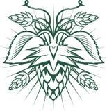 Emblème d'houblon Image stock