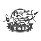 Emblème d'illustration de vecteur de club d'avion, illustration de vecteur illustration libre de droits