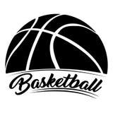 Emblème d'isolement de basket-ball illustration libre de droits