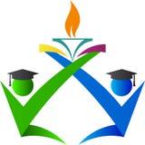 Emblème d'obtention du diplôme Photographie stock libre de droits