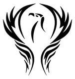 Emblème d'un aigle dans un bouclier Images stock