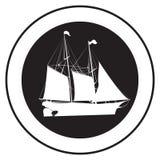 Emblème d'un vieux bateau illustration de vecteur