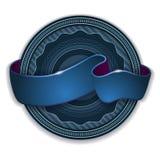 Emblème de bande bleue illustration de vecteur