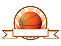 Emblème de basket-ball de vecteur Images stock