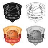 Emblème de basket-ball Icône simple de basket-ball en Web d'illustration d'actions de symbole de vecteur de style de bande dessin Illustration Libre de Droits