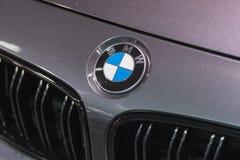 Emblème de BMW sur l'affichage Image libre de droits