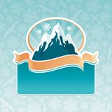 Emblème de borne limite de montagne Images libres de droits