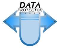 Emblème de bouclier de protecteur de données Images libres de droits