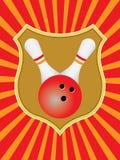 Emblème de bowling Image libre de droits