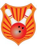 Emblème de bowling Images libres de droits