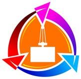 Emblème de cargaison illustration stock