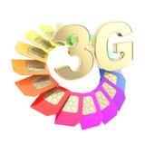emblème de carte de la puce SIM du circuit 3G d'isolement Images stock