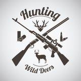 Emblème de chasse Illustration Libre de Droits