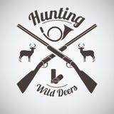 Emblème de chasse Illustration Stock