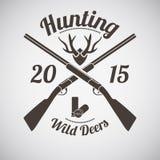 Emblème de chasse Photo libre de droits