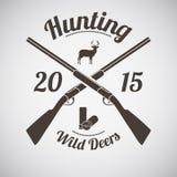 Emblème de chasse Photo stock