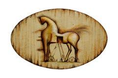 Emblème de cheval de Rusty Trojan (d'isolement) Photographie stock libre de droits