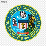 Emblème de Chicago illustration stock