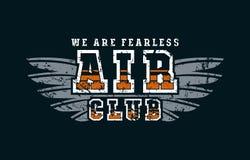 Emblème de club d'air Photographie stock