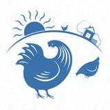 Emblème 3 de coq Photo stock