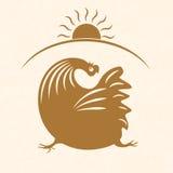 Emblème 2 de coq Photo stock