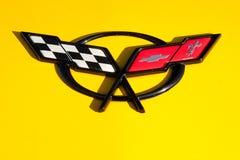 Emblème de Corvette Photographie stock libre de droits