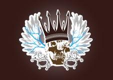 Emblème de crâne de cru Images libres de droits
