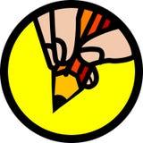 Emblème de crayon Photo stock