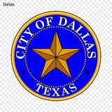 Emblème de Dallas illustration de vecteur