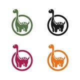 Emblème de dinosaure sur un fond blanc images stock