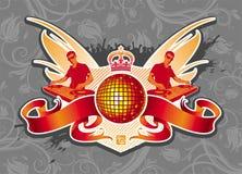 Emblème de disco Photographie stock