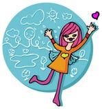 Emblème de fille de source - nature, amour illustration libre de droits